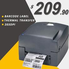 Térmica/impresoras de etiquetas de código de barras por transferencia Térmica 203 dpi 108mm USB código de barras impresora de etiquetas