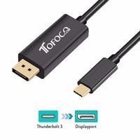 TOFOCO USB 3 1 Type C Thunderbolt 3 DisplayPort 4K 60Hz Compatible DP Cable