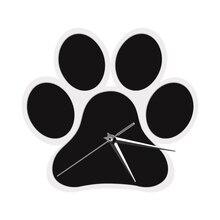 Dog Paw Design Clock Animals Wall Clock Modern Pug Wall Clock Home Decor Doggy Foot Contemporary Wall Art