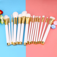 New 15PCS Make Up Foundation Eyebrow Eyeliner Blush Cosmetic Concealer Brushes High Quality Premium Full Function