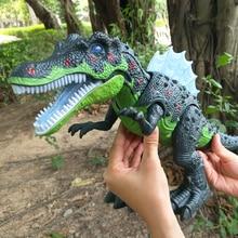 Качество см 51 см электрические игрушки большой размеры прогулки динозавр робот со светом Звук Brachiosaurus батарея работает малыш детский подарок