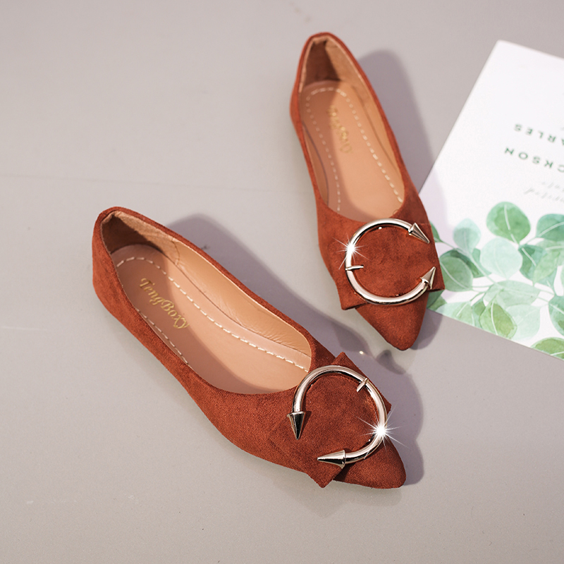 2019 New Women Shoes Summer Autumn Flat Shoes Women Loafer Ballerina Flats Metal Decoration Casual Female Shoes For Women