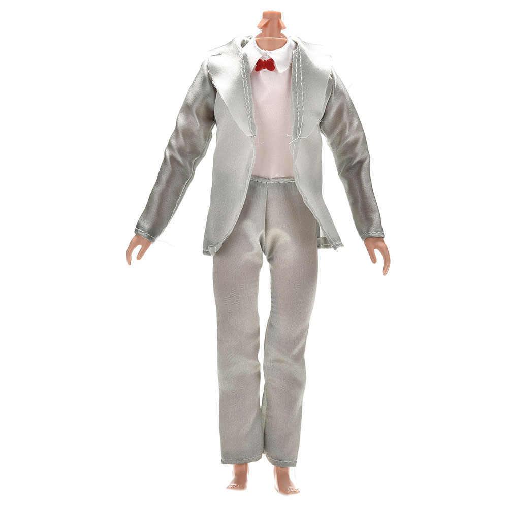 最新 3 ピース/セット手作り人形アクセサリー人形ケン花嫁のスーツと白のための Firend