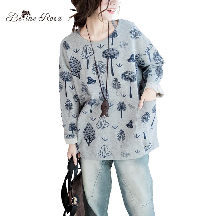 BelineRosa 2017 Women s Autumn Winter Clothing Plus Size Women Tops Casual Women s Large Size