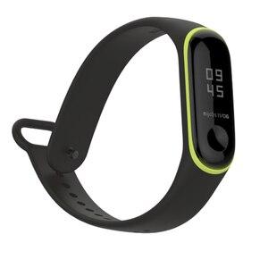 Image 5 - مزدوج ملون mi 3 حزام pulsera قابل للتعديل سيليكون المعصم حزام استبدال ل شاومي mi 3 الذكية أساور smartband
