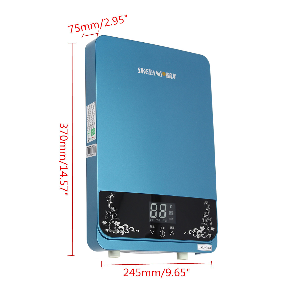 Calentador de agua eléctrico instantáneo 5500W calentador de agua eléctrico instantáneo ducha calentador de agua cocina baño calentador de agua - 3