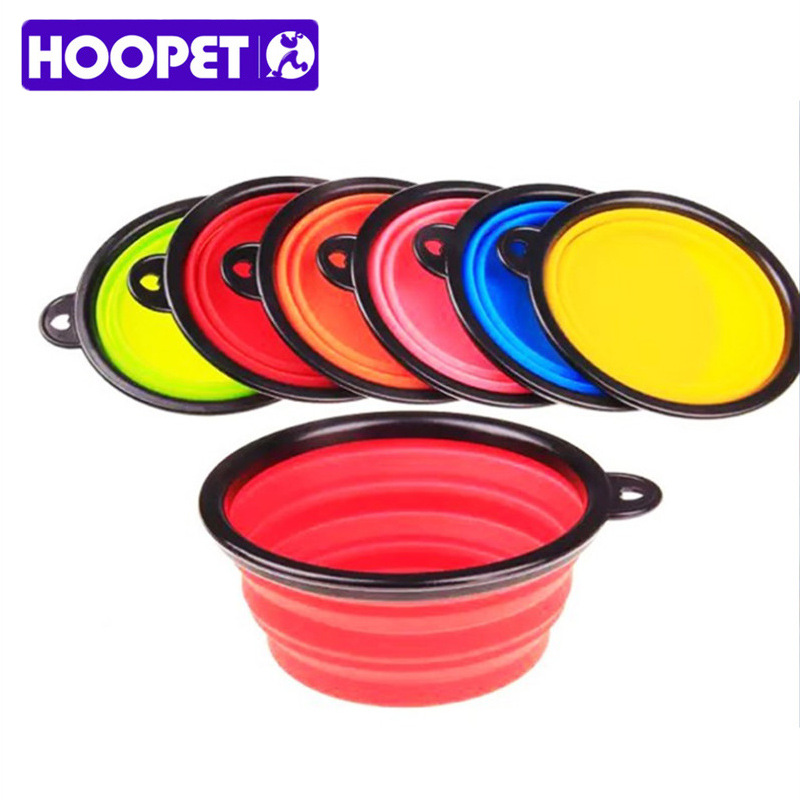Pet Dog Cat Travel Bowl Collapsible Plastic Rubber Feeding