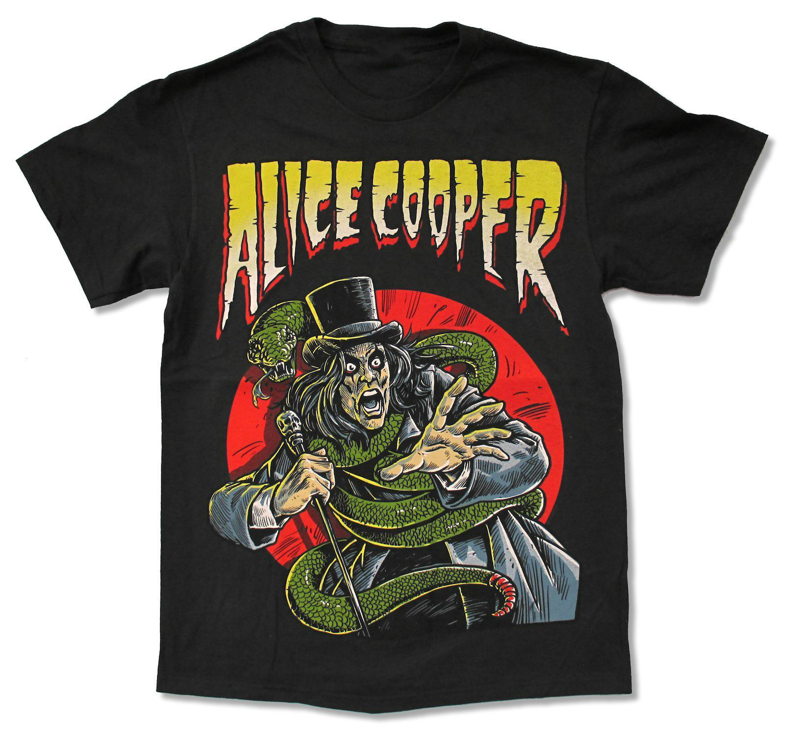 Shirt design book - Alice Cooper Comic Book Black T Shirt New Official Music Adult Awesome T