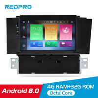 7 Android 8.0 Car DVD Stereo Multimedia Player For Citroen C4 C4L DS4 2013 2016 Auto Audio Video GPS Navigation headunit 4G RAM