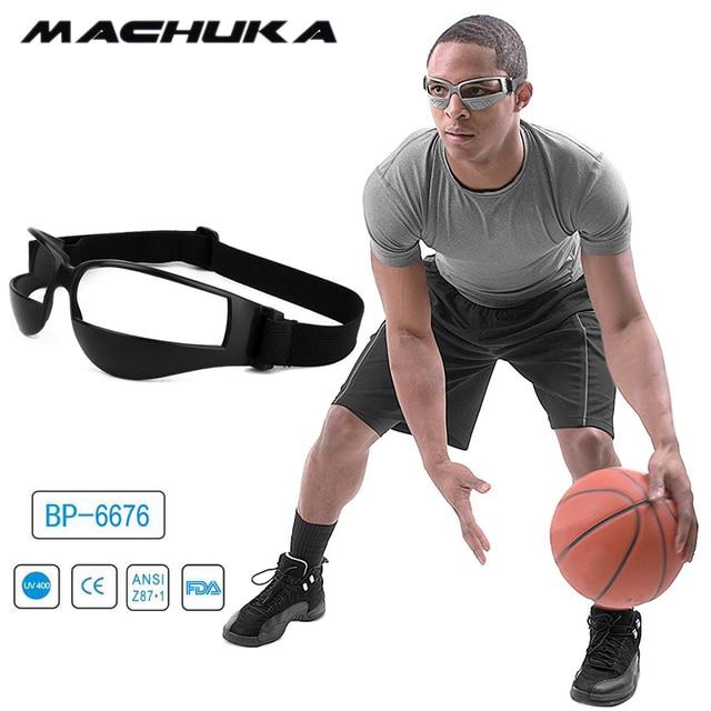 d035fe1b8e MACHUKA Male Anti Bow Basketball Glasses Anti Down Glasses Sport Eyewear  Frame Professional Basketball Training Goggles Free BOX