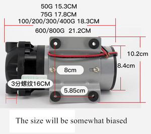 Image 3 - 75 400 gpd 24v Water Booster Diaphragm pump Natural pressure vacuum water filter parts for residential reverse osmosis system