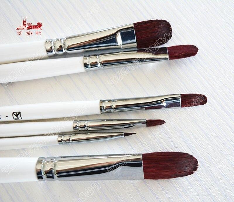 6Pcs/Set,High Quality Nylon Hair Artist Paint Brush Set Acrylic Oil Painting Watercolor Supplies Professional Art Supplies