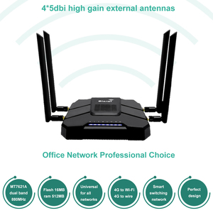 Ciosw WR246 4G Modem karty SIM Router wi-fi Openwrt Router do Modem usb port sieci ethernet 2.4g/5g dwuzakresowy 1WAN 4LAN Router gigabit
