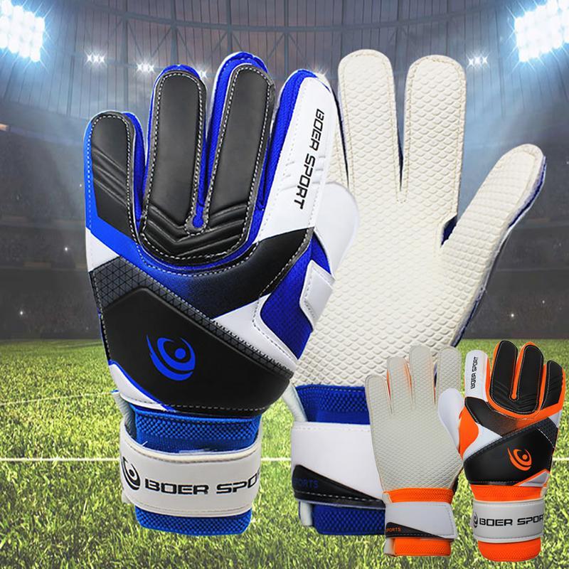 2018 New Sports Boys Kids Gloves For Children Gloves Team Game Protect Finger Goalie Gloves