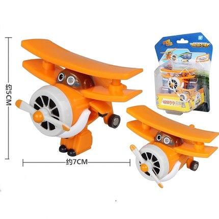 12 стилей, мини Супер Крылья, деформация, мини реактивный ABS робот, игрушка, фигурки, Супер крыло, трансформация, игрушки для детей, подарок - Цвет: With box Albert