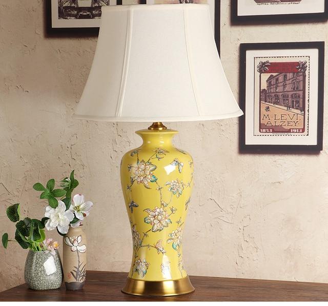 Vintage chinese porcelain ceramic table lamp bedroom living room vintage chinese porcelain ceramic table lamp bedroom living room wedding table lamp jingdezhen european table lamps aloadofball Image collections