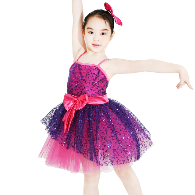 6b17e5a26afe MiDee Stage Dance Costume Ballroom Dancing Dress Professional Ballet Tutus  Summer Dresses For Girl