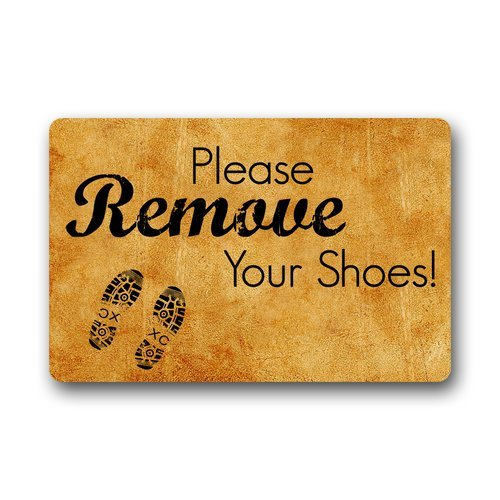 Cool Please Remove Your Shoes Sign Custom Indoor/Outdoor Door mats