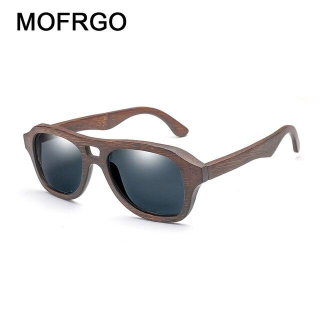 3018d5339 2018 de bambú polarizado gafas de sol para hombres mujeres clásico película  de Color bambú piernas