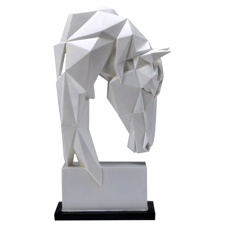 Geometry Horse Head Statues Animals Art Sculpture Resin Craft Home Decoration Crafts Room Creative Christmas Gifts R651