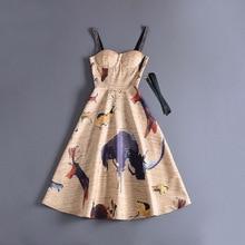Top Quality New Luxury Women 2018 Autumn Dress Famous Brands Fashion Designer Dresses Party