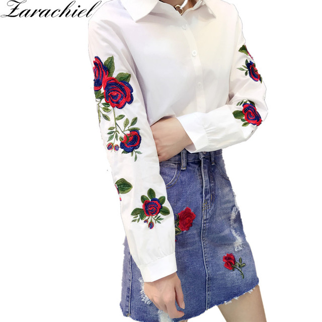 Wiki For Sale Pieces Embroidered Shirt Women White Best Place For Sale Outlet 2018 New Largest Supplier For Sale nvCN2