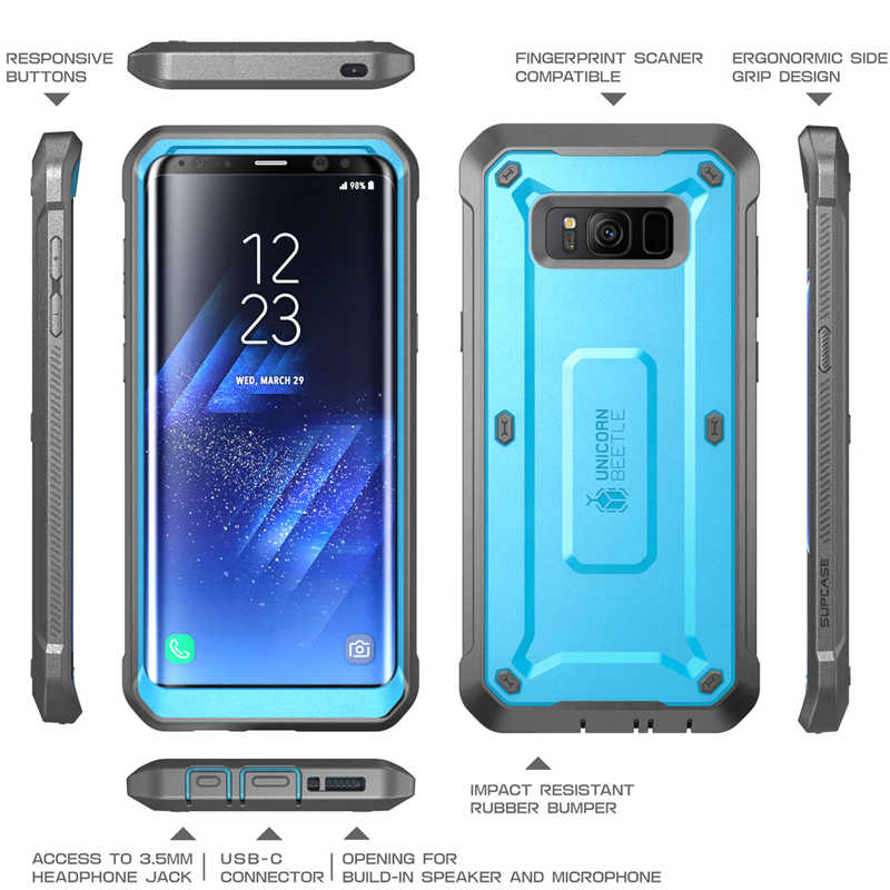 quality design 679f6 52e3a SUPCASE Cover For Samsung Galaxy S8 5.8 inch WITH Built-in Screen Protector  Unicorn Beetle UB Pro Full-Body Rugged Holster Case