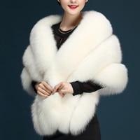 Winter cold weather faux fox fur pashmina super large patchwork wraps bride faux fur shawl luxurious warm fur scarf fur stole
