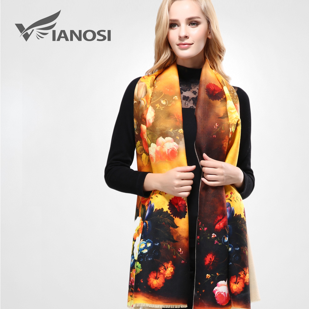 VIANOSI  Top Quality Digital Printing Women Scarf Winter Thicken Warm  Shawls and Scarves Wool cabe1def045