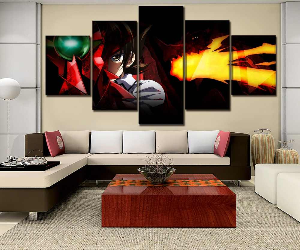 Canvas HD Prints Living Room Wall Art Modular Framework 5 Pieces Anime High School DxD q50