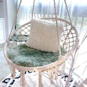 Image 4 - สไตล์นอร์ดิกรอบเปลญวนกลางแจ้งในร่มห้องนอนห้องนอนแขวนเก้าอี้สำหรับเด็กผู้ใหญ่แกว่งเดี่ยวความปลอดภัย Hammock สีขาว