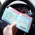 Mini Cubierta Para El Coche de Conducción Documentos de Licencia de Conducir de Crédito de La Cubierta Del Portatarjetas Para Tarjeta de Estudiante Unisex Hombre Mujer 2016 Ventas Al Por Mayor