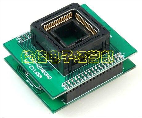 Import Seat PLCC68 Burning Recorder ZY168A Adapter ZLG X5/X8/5000U Programming Seat