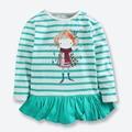 Nueva Otoño Ropa Para Niñas de Manga Larga a Rayas de Empalme Niños camisetas de Algodón Casual Camisetas Para Niñas Ropa Tops Camiseta 1-6 años