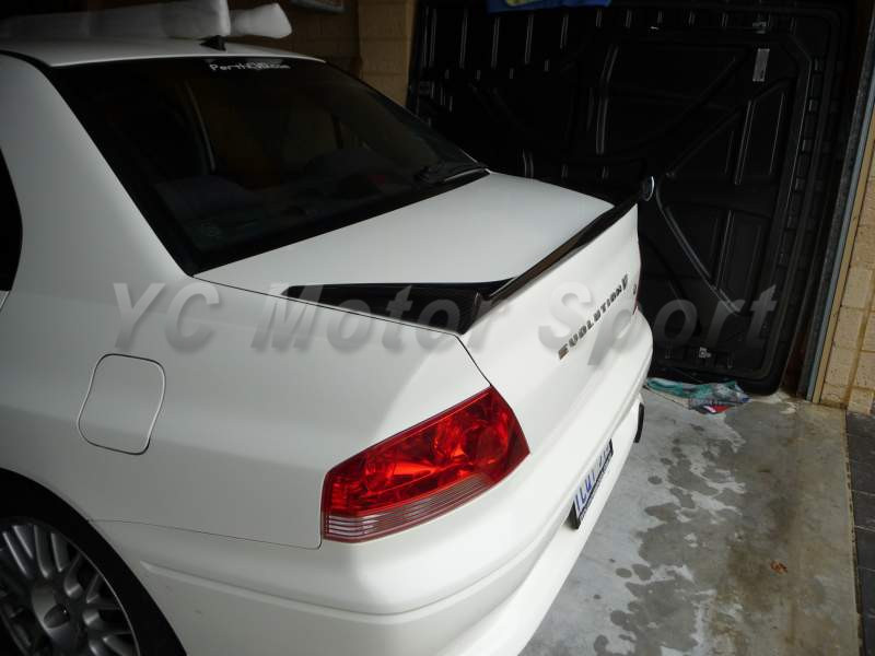 Car Accessories FRP Fiber Glass VS Style Trunk Spoiler Fit For 2001-2007 Evolution 7-9 EVO 7 8 9 Rear Spoiler Wing