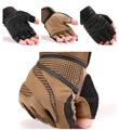 Weight lift Body Building Gym Training Fitness Sports Workout Half Finger Gloves Black Brown Free Shipping