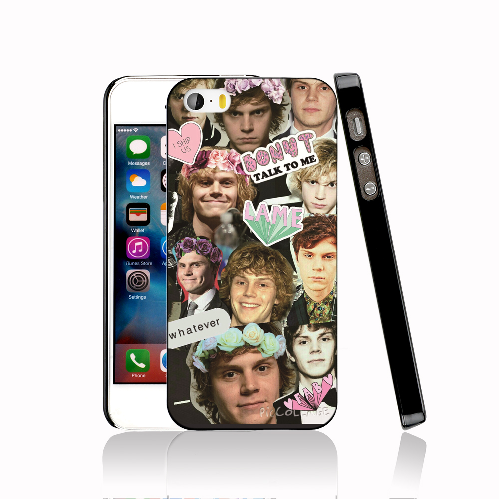 14151 Evan Peters Collage protective Cover cell phone Case for iPhone 4 4S 5 5S 5C SE 6 6S Plus 6SPlus