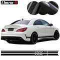 Edition 1 Stil Seite Streifen Aufkleber Aufkleber für Mercedes Benz CLA 45 W117 C117 X117 AMG-5D Carbon Fibre /schwarz/Weiß/Silber
