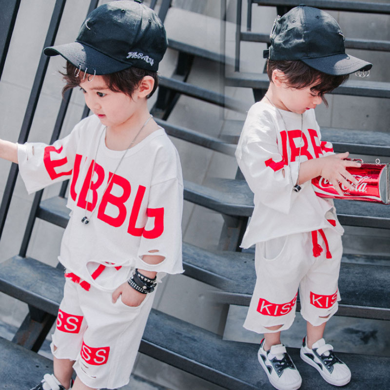 2 Piece Toddler Boy Clothes Kids Tracksuit Sets Baby Infant Boy Summer Sets Short Sleeve Casual Cotton Suit (T Shirt+Pants) baby boy clothes kids bodysuit infant coverall newborn romper short sleeve polo shirt cotton children costume outfit suit