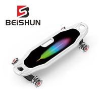 Beginner Skateboard Four Round Flash Wheel Children Skateboard Adult Long Board Fish Board