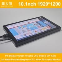 10.1 Inch 1920*1200 IPS Display Screen Graphic LCD Module DIY Auto Car HMDI Portable Raspberry Pi 3 Xbox PS4 Aerial Monitor