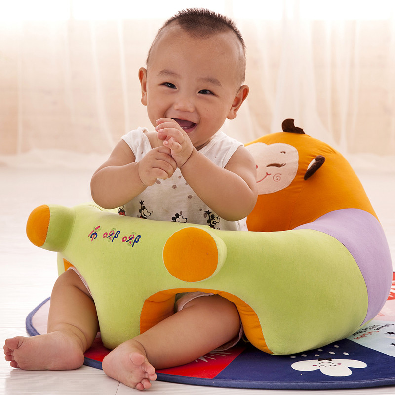 Baby Chair 1pc Cushion Children's Chair For Kids Portable Baby Support Seat Sitting Cushion Without Filling Only Cover Seat Skin(China)