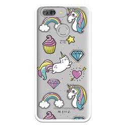 На Алиэкспресс купить чехол для смартфона stand case unicorn cupcake wp004 costume drawing for zte blade v9 vita