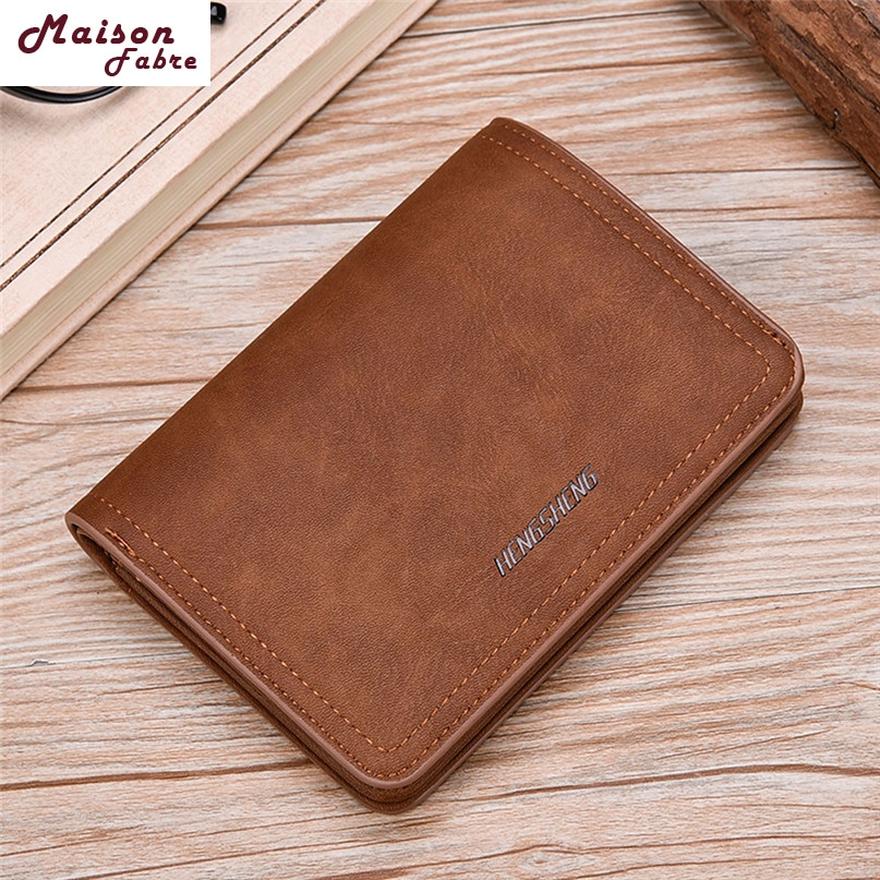 New 2017 Men Short Bifold Business Leather Wallet Money Card Holder Bag Purse drop shipping 0526 frank buytendijk dealing with dilemmas where business analytics fall short