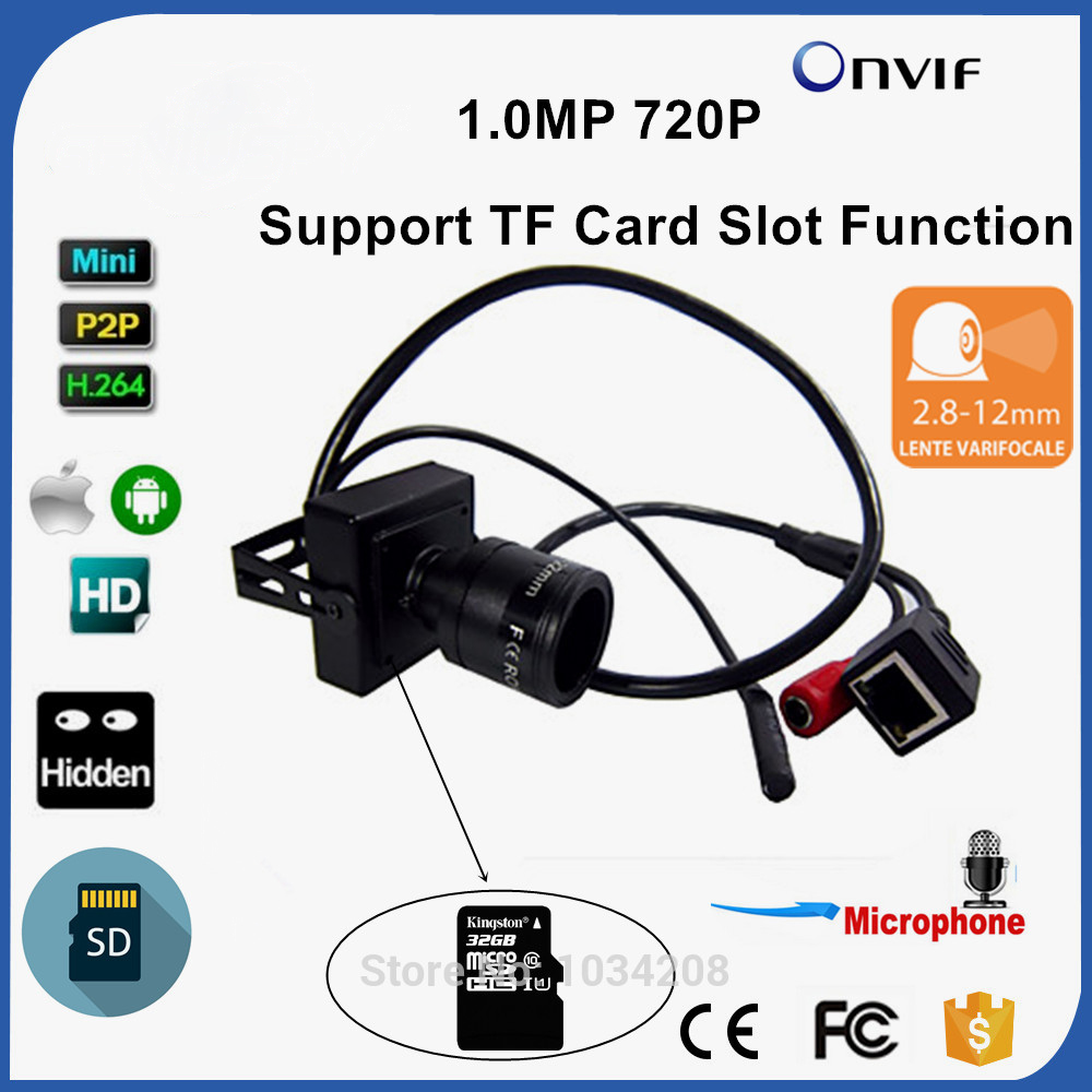 Audio 2.8-12mm Zoom Manual Lens 720P Micro TF SD Card Slot Mini IP Camera Onvif For Home Indoor Security CCTV IP Kamera audio 2 8 12mm zoom manual lens 720p micro tf sd card slot mini ip camera onvif for home indoor security cctv ip kamera