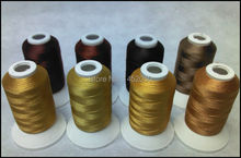 BROWN COLORS Embroidery Machine Thread 8 Spools Free Ship