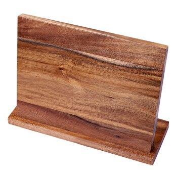 Forte Porte-couteau Magnétique En Bois Massif Cuisine Barre Ciseaux Fournitures De Stockage Bloc Aimant Couteau Support Organisateur Accessoires