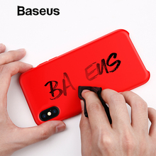 Baseus Luxury Liquid Silicone Case For iPhone Xs Max Smooth Candy Color Silicon Case For iPhone Xs Xs Max XR Coque Phone Cover