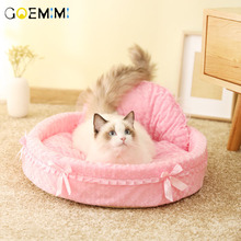 2019 Dog Cat Lovely Bed Princess Bows Lace Elegant Pet Warm For Cats Top Quality casa para gato pet bed for cats