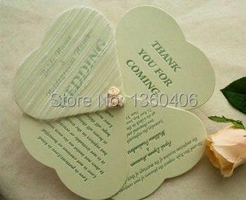 rstico die cut lucky clover forma de abanico tarjetas de invitacin de boda tarjetas navidad con